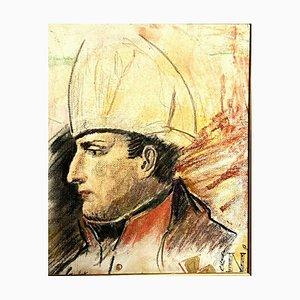 Scuola francese, sangue contenuto Napoleone Bonaparte, puntasecca