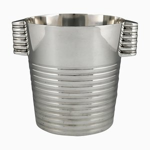 Art Deco Silver Champagne Bucket by Luc Lanel for Christofle, 1935