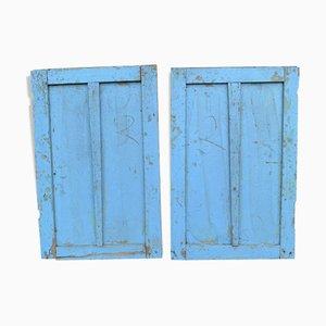 Patinierte Fensterläden aus Holz, 2er Set