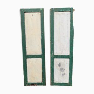 Wooden Shutters, Set of 2