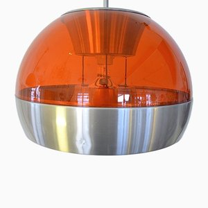 Lampada a sospensione Globe Space Age, anni '70