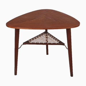Danish Modern Teak Coffee Table by Holger Georg Jensen for Kubus, 1960s