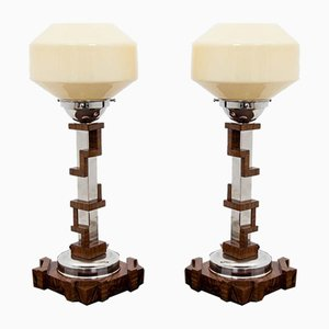 Art Deco Style Table Lamps, 1990s, Set of 2