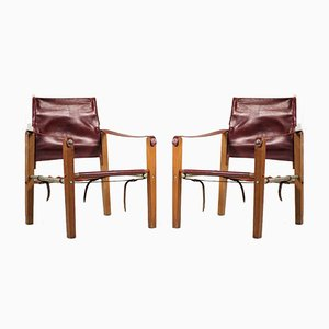 Saddlery Bouix Safari Armchairs, 1920s, Set of 2