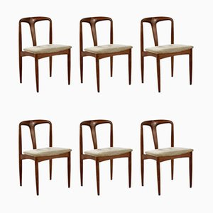 Juliane Dining Chairs by Johannes Andersen for Uldum Møbelfabrik, 1960s, Set of 6