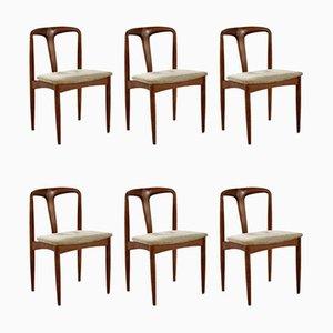 Juliane Dining Chairs by Johannes Andersen for Uldum Møbelfabrik, 1960s, Set of 6