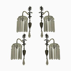 Edwardian Silver Plated Wall Lights, Set of 4