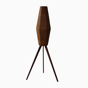 Scandinavian Floor Lamp in Pine and Teak, 1960s
