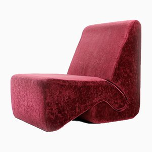 Velvet Lounge Chairs by Ivan Matusik, Czechoslovakia, 1970