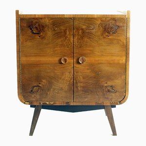 Art Deco Sideboard in Walnut, Czechoslovakia, 1940s