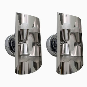 Steel Sconces by Maria Pergay, 1970s, France, Set of 2