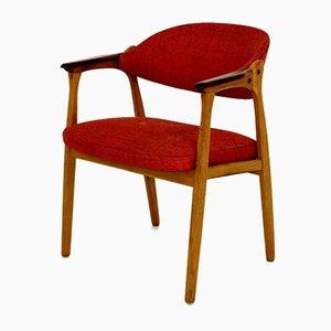 Chaise de Bureau Scandinave en Teck et Chêne, 1950s