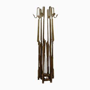 Brutalist Wrought Iron Coat Rack, 1950s