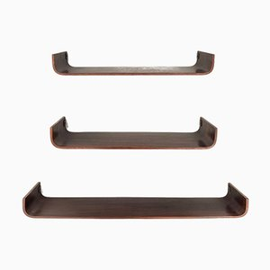 Italian Rosewood Shelves from Creazioni Stilcasa, 1960s, Set of 3
