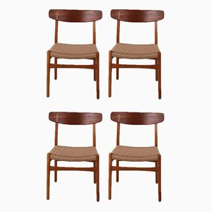 CH23 Chairs by Hans Wegner for Carl Hansen & Søn, 1960s, Set of 4