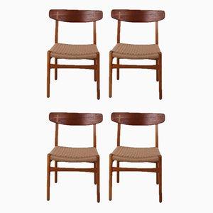 CH23 Stühle von Hans Wegner für Carl Hansen & Søn, 1960er, 4er Set