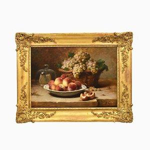 Bodegón con fruta, siglo XIX, óleo sobre lienzo.