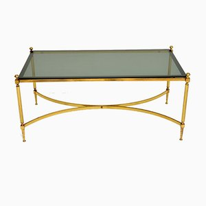Vintage Italian Brass Coffee Table, 1960s