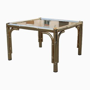 Italian Square 24K Gold Coffee Table, 1970s