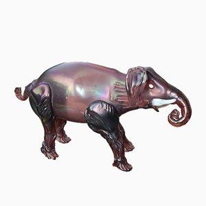 Italienischer Elefant aus Muranoglas, 1930er