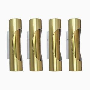 Appliques tubulaires de S.L. Marca, 1970s, Set de 4