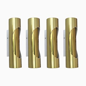 Tubular Sconces from S.L. Marca, 1970s, Set of 4