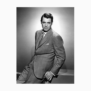 Cary Grant Posing, Archival Pigment Print Framed in Black, Everett Collection, 1940s
