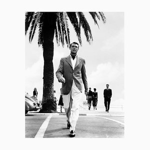 Cary Grant In Catch A Thief, Archival Pigment Print Framed in Black, Everett Collection, 1955
