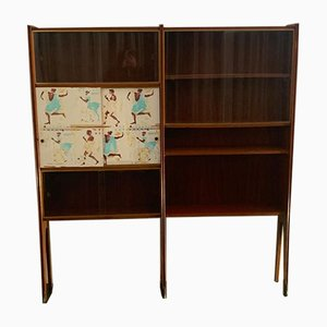 Mahogany Showcase with Bronze Tips by Osvaldo Borsani, 1950s