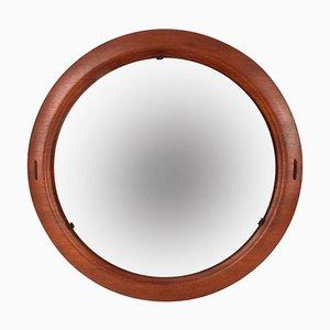 Round Italian Teak Mirror from Creazioni Stilcasa, 1960s