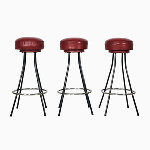 American Bar Stools, 1960s, Set of 3