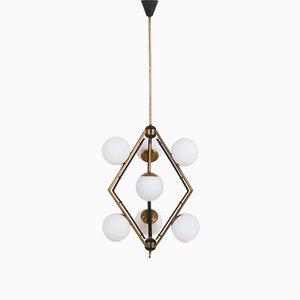 Lampe à Suspension en Forme de Diamant de Stilnovo, Italie, 1960s