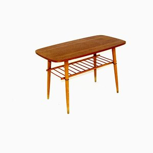 Table Basse en Teck, Suède, 1950s