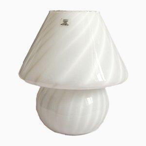 Lampada da tavolo Swirl Franca Murano vintage a fungo di Murano Vetri, anni '70
