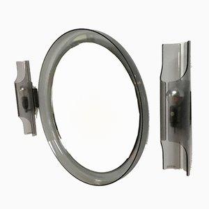 Specchio vintage e applique di Guzzini, set di 3