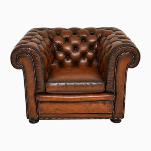 Victorian Style Leather Chesterfield Armchair , 1950s