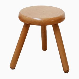 Small Low Pine Stool, 1970s
