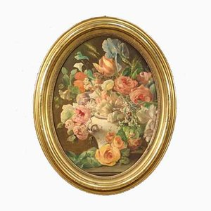 Nature morte italienne, XIXe siècle, huile sur toile
