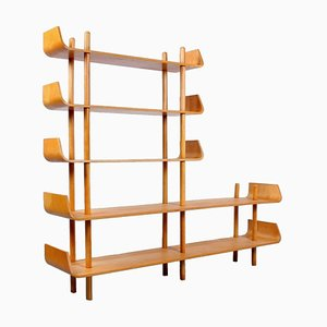 Birch Wall Unit by Willem Lutjens for Gouda Den Boer, 1950s