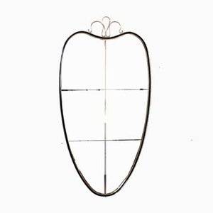 Großer italienischer gravierter Spiegel, 1950er Jahre