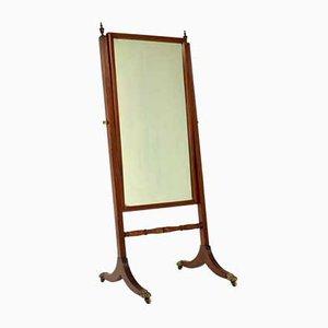 Miroir Cheval Antique Regency Acajou