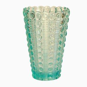 Vintage Bollicine Murano Pastellblaue Vase, 1970er Jahre