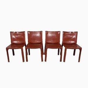 CAB Chairs by Mario Bellini for Cassina, 1970s, Set of 4