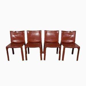 CAB-Stühle von Mario Bellini für Cassina, 1970er Jahre, 4er-Set