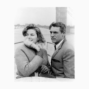 Cary Grant & Ingrid Bergman, Archival Pigment Print Framed in Black, Everett Collection, 1958