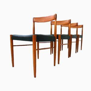 Chaises de Salon en Teck par H.W. Klein pour Bramin, Set de 4