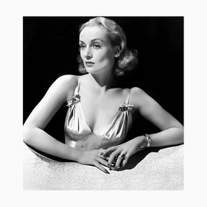 Carole Lombard, Archival Pigment Print Framed in White, Everett Collection, 1940