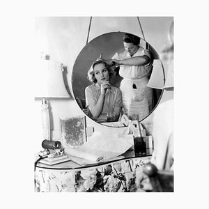 Carole Lombard In Hair & Makeup, Archival Pigment Print Framed in White, Everett Collection, 1939