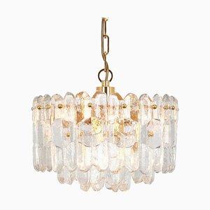 Gilt Brass & Crystal Glass Chandelier from Kalmar, 1970s