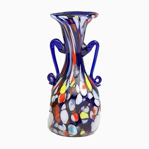 Art Nouveau Blue Murano Glass Vase from Fratelli Toso, 1920s
